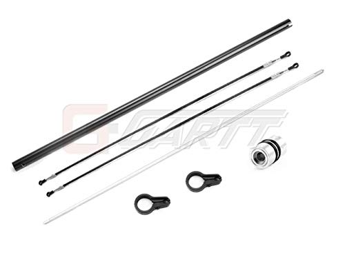 Generic Ormino Gartt 450L Torque Tube Tail Boom(Black) Set for Trex 450L Helicopter Black