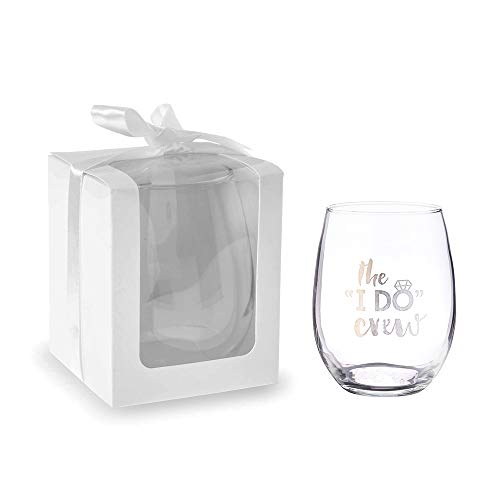 Kate Aspen Gift Boxes for Stemless Wine Glasses, 9 oz. (36 Boxes) Perfect Wedding Favors, Bachelorette Favor or Bridal Shower Favor - White - Stemless Wine Glass Sold -