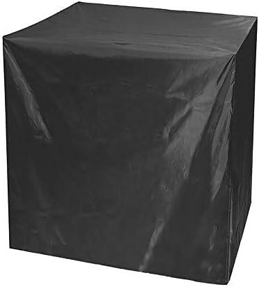 屋外テーブルチェアカバ 屋外卓球テーブルカバーガーデン防水表カバーポータブルパティオ大型家具カバーUVプロテクション165x70x185cm 保護カバー ガーデン屋外用 (Color : Black, Size : 165x70x185cm)