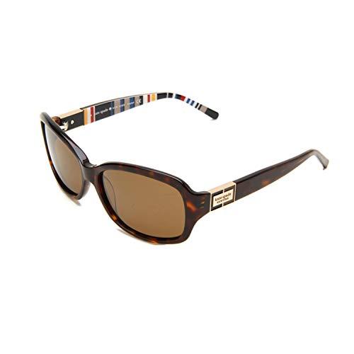 Kate Spade Women's Annikps Polarized Rectangular Sunglasses,Tortoise Stripe Frame/Brown Lens,One ()