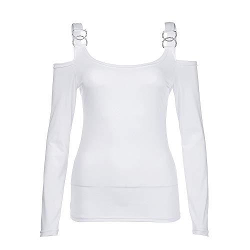 Tous et Slim t Automne OVERMAL Femmes Bureau Longue Chemise Blouse Chic Dcontracte Jours Vrac Sexy 2018 T Shirt Vetements Sexy en Haut Les Manches Fille Blanc 1 Mode Tops 6w8cqn8Tr