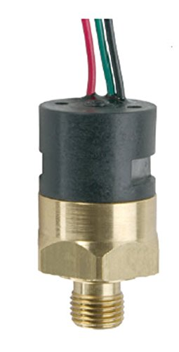 Gems PS41-30-4MNB-C-FL18 Series PS41 Economical Miniature Pressure Switch, SPDT Circuit, 25-100 psi Range, 1/4'' MNPT Brass Fitting, SPDT Circuit, 18'' Flying Leads