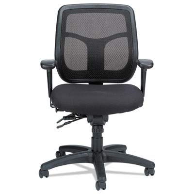 Eurotech Seating Apollo MFT945SL Multi Function Swivel Chair with Seat Slider, Black