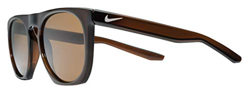 Nike Men's Flatspot P Polarized Round Sunglasses, Brown, 52 mm