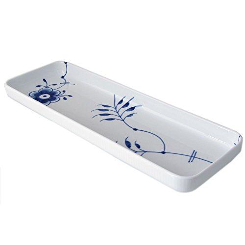 Blue Fluted Mega Oblong Dish Size: 1.01