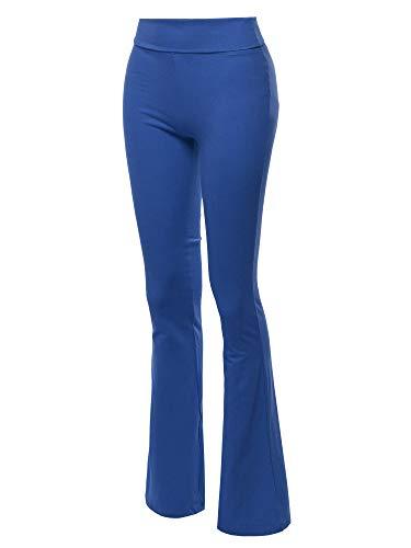 Made by Emma High Waist Stretch Workout Bootleg Lounge Yoga Pants Sapphire M