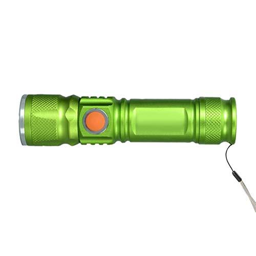 JullyeleESgant Portátil Mini USB Recargable LED Linterna Acampar al Aire Libre 3 Modo de Enfoque Ajustable Fuerte luz antorcha Bicicleta Faro: Amazon.es: ...