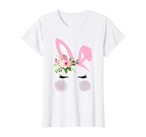 Easter Bunny Pink Watercolor Flower Headband Girls T
