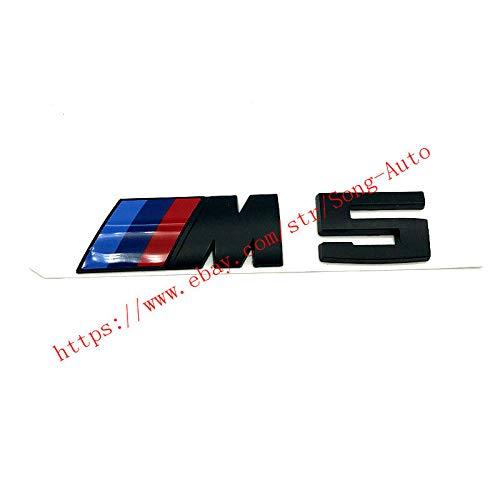 FidgetFidget M5 Black Trunk Label Sticker Badge Emblem for BMW E53 E52 E39