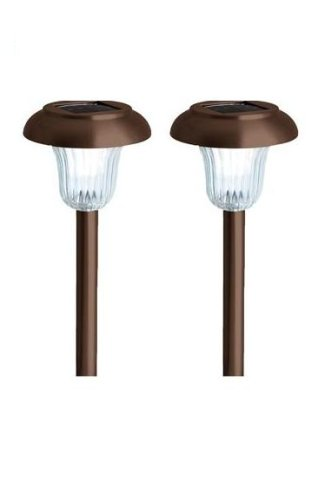 Westinghouse 106102-78  2 Piece Dayton Solar Lights Set, Remington Bronze
