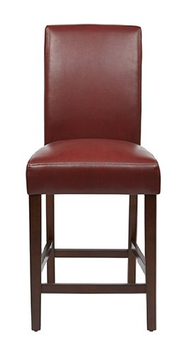 Metro Counter Stools (OSP Designs MET2824-RD Metro Parsons Counter Stool in KD, 24-Inch, Crimson Red, 2-Pack)