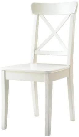 Ikea INGOLF Stuhl in wei/ß; aus Massivholz