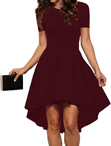 - Halife Womens Skater High Low Homecoming Cocktail Dresses for Wedding Party Burgundy XXL
