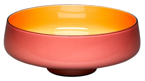- VENINI 'Carioca' 4.75-Inch Amethyst and Orange Bowl