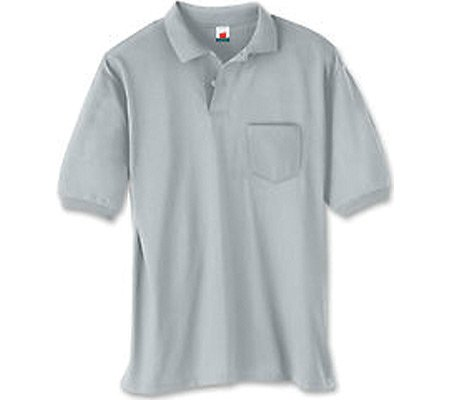 ce618b17561 Hanes Adult Comfortblend Ecosmart Jersey Polo With Pocket (Light Steel) (M)