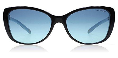 Tiffany Women's TF4103HB Sunglasses, Black/Azure