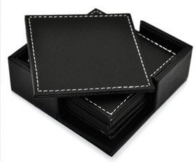 JustNile 6-Piece Square Coaster Set with