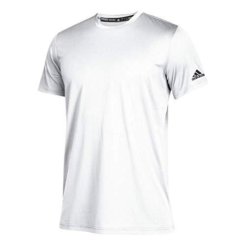 adidas Men's Clima Tech Tee,White/Black,M/M