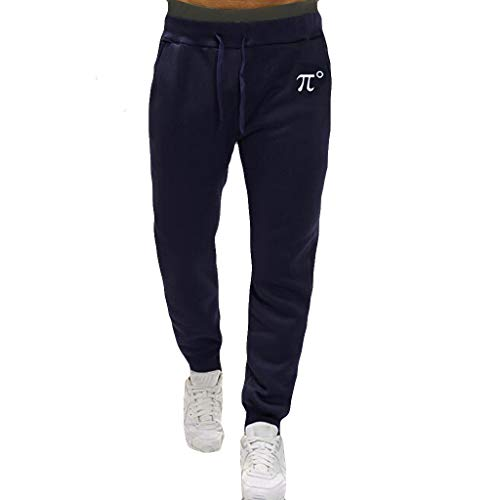 (TIFENNY Loose Running Pant for Men Soft Overalls Casual Pocket Work Casual Trouser Fashion Training Pants Navy)