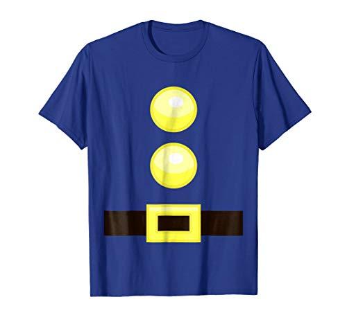 Dwarf Halloween Group Idea Costume with Belt Buttons T-Shirt