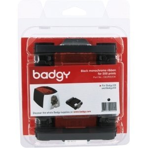(Evolis Badgy100 & 200 Black Ribbon - Compatible with Badgy100 & 200 printers only - CBGR0500K)