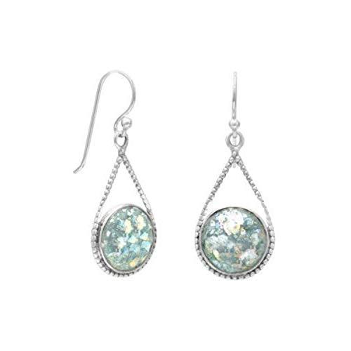 (Roman Glass Drop Earrings)