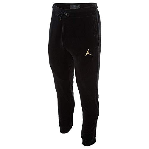 Jordan Sportswear Velour Pants (XL, Black/Metallic Gold) (Best Pants For Jordans)