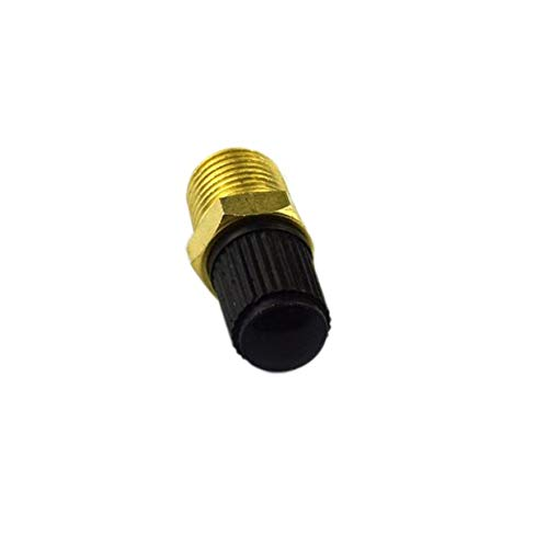2PCS//Set Durable Use 1//4 NPT MPT Brass Air Compressor Tank Fill Valve Schrader Auto Car Accessories-Gold /& Black