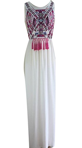 Coolred Maxi Lightweight Women Club Party Boho White Printed Dress Floral rO5rnxwZvq