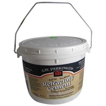 Premixed Refractory Cement, Buff, 1/2-Gallon