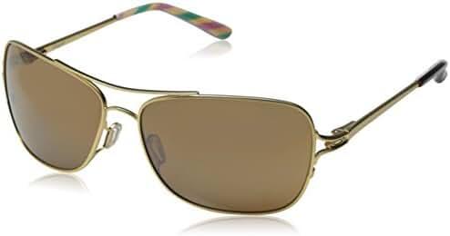 Oakley Women's Conquest OO4101-03 Iridium Aviator Sunglasses