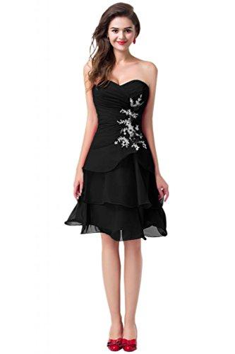 vestito damigella Pantaloncini ragazzi abito Sunvary per Homecoming Black Charming da Sweetheart d'onore f8ZIEq