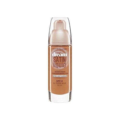 メイベリン夢サテンリキッドファンデーション54タフィー30ミリリットル x4 - Maybelline Dream Satin Liquid Foundation 54 Toffee 30ml (Pack of 4) [並行輸入品] B071RN9FYT