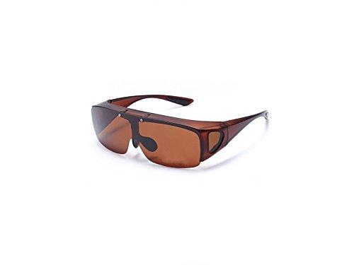 para y Sol ATTOUPAN polarizadas Marrón de Color Gafas Marrón Ciclismo xS8wPI8