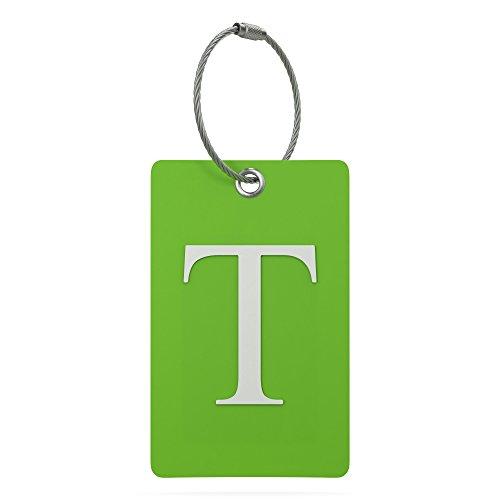 identificador de valija equipaje mochila letra T