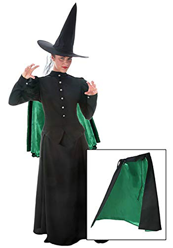 Fun Costumes Women's Black Outer Shell Green Satin Lining Witch Cape Standard - http://coolthings.us