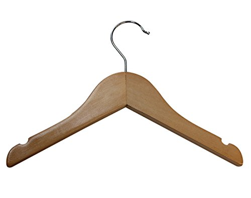 10'' Infant Shirt Clothe Hanger Retail Display Fixture Natural Lot of 100 NEW by Unknown