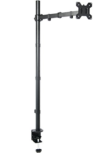 "VIVO Single Monitor Stand up Mount Extra Tall 39"" Pole Adjustable Stand / Fits One Screen up to 27"" (STAND-V011)"