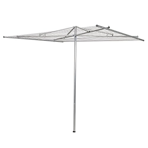 Household Essentials 17140-1 Rotary Outdoor Umbrella Drying Rack | Steel | 30-Lines with 182 ft. Clothesline