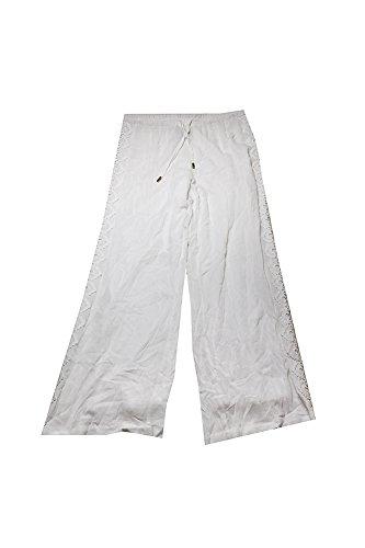 INC International Concepts Women Crocheted Wide Leg Pants Size 6 Bright White