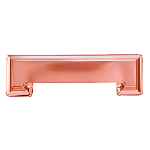 Hickory Hardware P3013-CP-10B Studio Collection Cup Pull 3 Inch & 3-3/4 Inch (96mm) Hole Center, Center to Center, Polished Copper, 10 Each