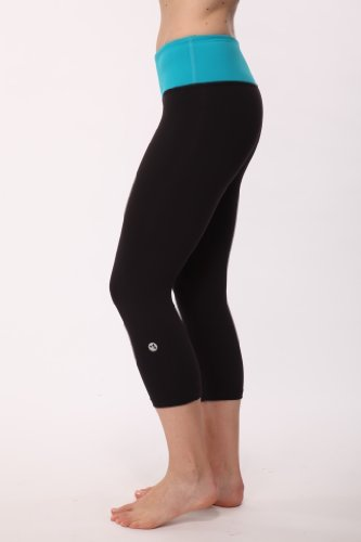 """Energize """"Om"""" Crop By Reflex Sport (Large, Turquoise-Black)"""