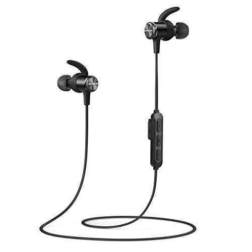 Bluetooth Headphones, Soundcore Spirit Sports Earbuds by Anker, Bluetooth 5.0, 8H Battery, IPX7 Waterproof, SweatGuard, Comfortable Wireless Headphones, Secure Fit for Running, Gym, Workout (Black)