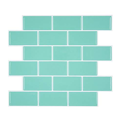 Aqua Peel and Stick Subway Tile Backsplash for Kitchen & RV Room, Anti Mold Peel and Stick Tile Backsplash for Rental Apartment 11.26