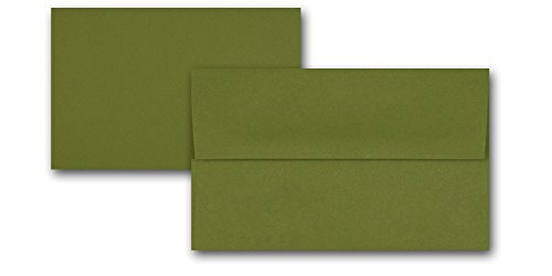 (Premium Blank RSVP A-1 Flat Cards with Matching A-1 Envelope Set 100 Envelopes & 100 Cards - Great for DIY RSVP, NoteCards, Baby Shower, Wedding, Etc. (Jellybean Green))