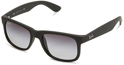 - Ray-Ban Justin RB4165 Sunglasses-601/8G Rubber Black/Gray Gradient-51mm