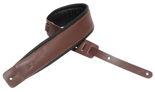"Levy's Leathers Guitar Strap, DM1PD-BRN, 2½"" leather guitar"