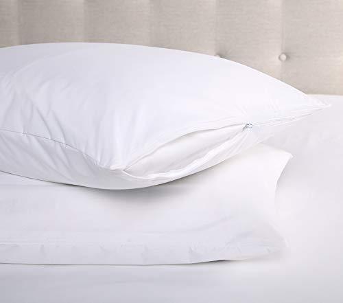 Ellington Home Ultra Soft 2 Pack Hypoallergenic Waterproof BedBug Pillow Encasement Protector (King)