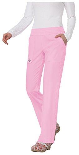 Mariposa by Koi Women's Maddi Yoga-Style 4 Pocket Pant- Pink Sachet- Medium ()