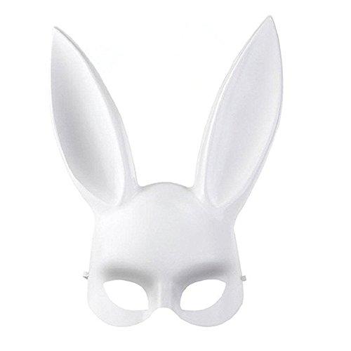 Rosfajiama Bunny Mask Women's Masquerade Rabbit Mask for Halloween Party -